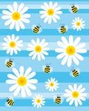 abelhas e flores ilustração stock