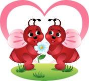 Abelhas Loving ilustração royalty free