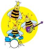 Abelhas que jogam instrumentos ilustração stock