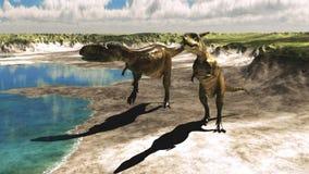 Abelisaurus ilustración del vector