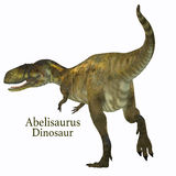 Abelisaurus Dinosaur Tail with Font Royalty Free Stock Images