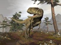 Abelisaurusdinosaurie - 3D framför vektor illustrationer
