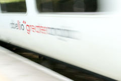 Abellio Greater Anglia Train in Motion Stock Photography