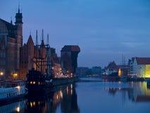 Abend in altem Gdansk Stockfotografie