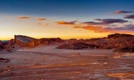 Abend in Atacama Stockbild