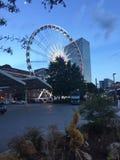 Abend in Atlanta stockbilder