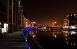 Abend auf dem Milwaukee-Fluss Stockbilder