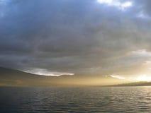 Abend auf dem See Lizenzfreie Stockfotos