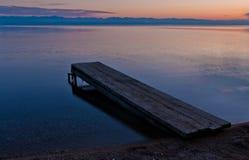 Abend auf dem See Stockbilder
