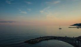 Abend auf dem Strand Lizenzfreies Stockbild