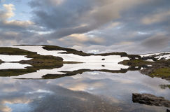 Abend auf dem Vikafjell Lizenzfreies Stockfoto