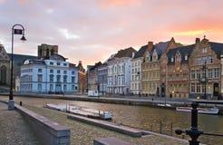 Abend in Belgien Stockbilder