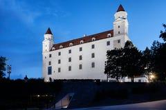 Abend an Bratislava-Schloss Lizenzfreie Stockfotos