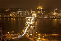 Abend Budapest. Lizenzfreie Stockfotos