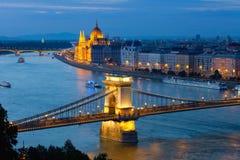 Abend Budapest stockbilder