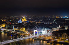 Abend Budapest Stockfotografie
