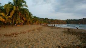 Abend an Carillo-Strand in Costa Rica lizenzfreies stockbild