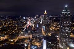 Abend Comute, Atlanta Georgia lizenzfreie stockfotografie