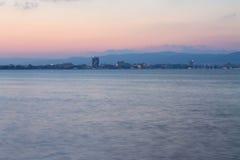 Abend an der Küste lizenzfreie stockbilder