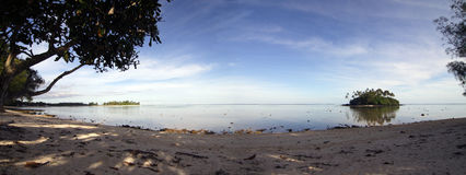 Abend an der Muri Lagune Stockbilder