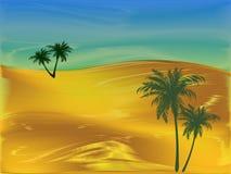 Abend in der Wüste Stockfotos