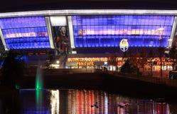 Abend Donbass Arena lizenzfreies stockfoto
