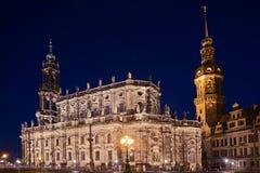 Abend in Dresden Stockfotos