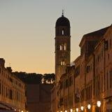 Abend in Dubrovnik, Kroatien Lizenzfreies Stockfoto