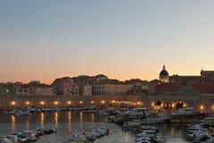 Abend in Dubrovnik, Kroatien Lizenzfreie Stockfotografie