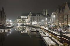 Abend in Gent Lizenzfreie Stockfotografie