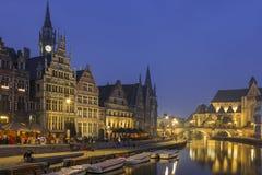 Abend in Gent Stockbilder