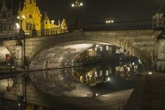 Abend in Gent Lizenzfreie Stockbilder