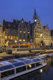 Abend in Gent Stockfoto