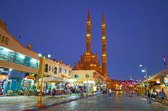 Abend im alten Markt des Sharm el Sheikh, Ägypten Lizenzfreies Stockfoto