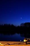 Am Abend im Kanal Stockbilder