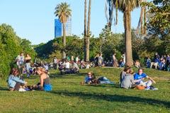 Abend im Park von Ciutadella, Barcelona Lizenzfreie Stockfotografie