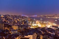 Abend Istanbul Stockbild