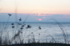 Abend-Landschaftsmeer Lizenzfreie Stockfotografie