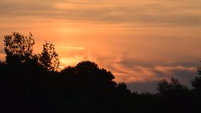 Abend ligt an einem windigen Tag Stockbild