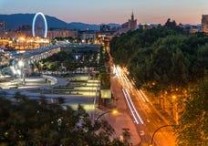 Abend in Màlaga, Spanien Lizenzfreies Stockbild