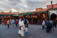 Abend in Marrakesch Stockfoto
