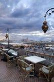 Abend in Marrakesch Stockbilder