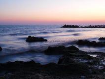 Abend in Meer Stockfotografie