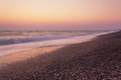 Abend in Meer Stockfoto