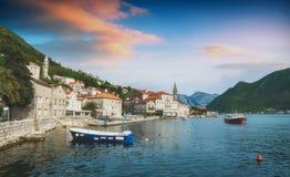 Abend in Montenegro Lizenzfreie Stockfotografie