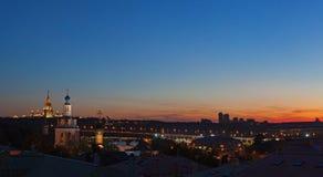 Abend Moskau Stockbild