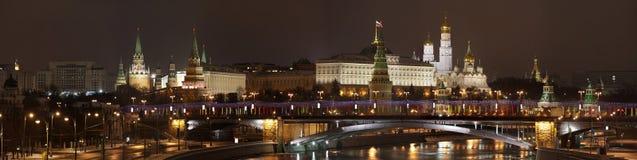 ABEND MOSKAU. Stockfotografie