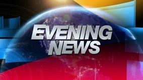 Abend-Nachrichten - Sendungs-Grafik-Titel vektor abbildung