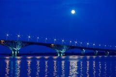 Abend- oder Nachtlandschaft Der Mond war voll Stockfotografie