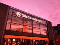 Abend Oslo Stockbild